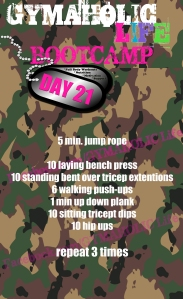 21 FREE BOOTCAMP exercises