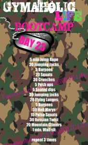 23 FREE BOOTCAMP exercises